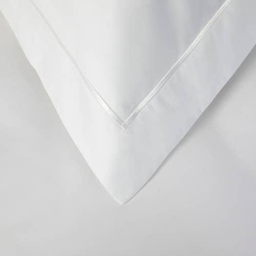 Linge de lit de luxe en satinde coton Égyptien 400 fils Blancs/cm² - 1000TC - Taie d'oreiller