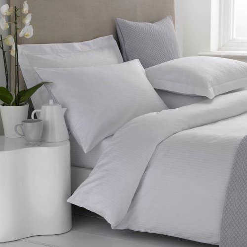 Linge de lit en coton Égyptien 200 fils/cm² - 500TC Satin de Coton avec Micro-Rayures - Housse de Couette