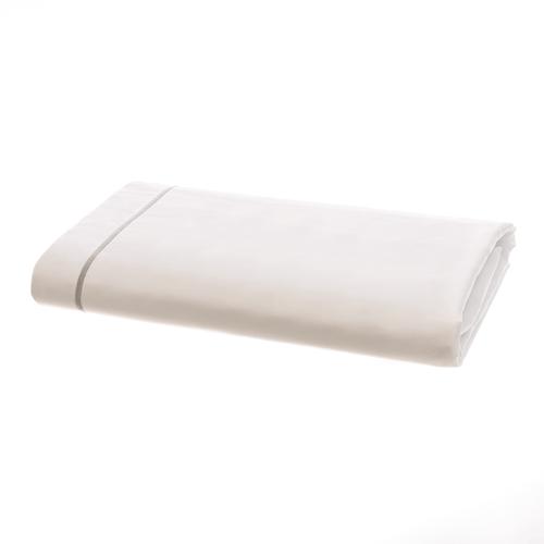 Parure de lit Amalfi de coton Égyptien 240 fils/cm² - 600TC avec Cordon Gris - Drap Plat
