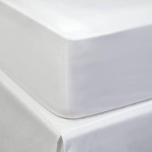 Linge de lit de luxe en satinde coton Égyptien 400 fils Blancs/cm² - 1000TC - Drap Housse