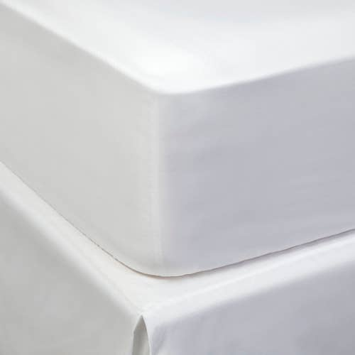 Linge de lit en coton biologique 120 fils/cm² - 300TC - Drap Housse