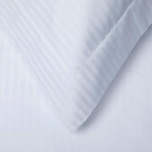 Linge de lit en coton Égyptien 120 fils/cm² - 300TC Satin de Coton avec rayures - Taie d'Oreiller