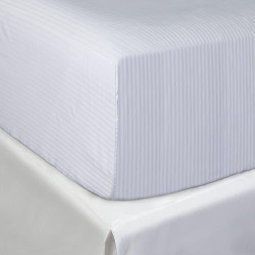 Linge de lit en coton Égyptien 200 fils/cm² - 500TC Satin de Coton avec Micro-Rayures - Drap Housse