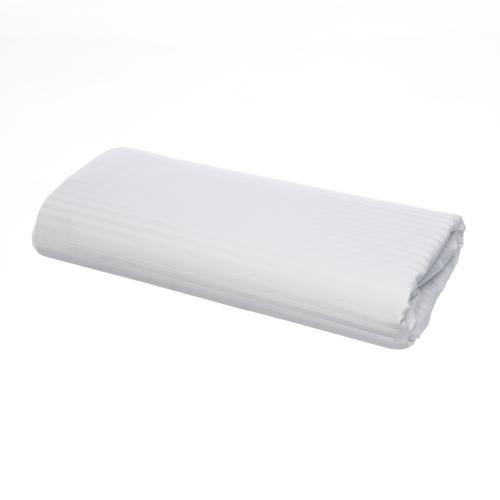 Linge de lit en coton Égyptien 120 fils/cm² - 300TC Satin de Coton avec rayures - Drap Plat