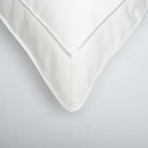 Parure de lit Monaco en satin de coton 220 fils/cm² - 550TC - liseré blanc - taie d'oreiller
