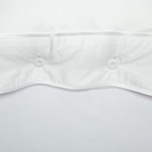 Parure de lit Monaco en satin de coton 220 fils/cm² - 550TC - liseré blanc - taie d'oreiller avec boutons
