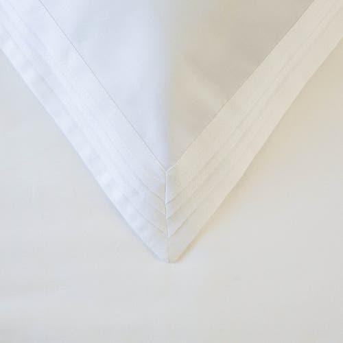 Linge de lit en satin de coton Égyptien 240 fils/cm² - 600TC Blanc à Triple Plis - Drap Housse à Haut Bonnet