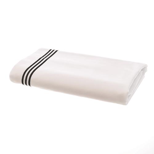 Parure de Lit Milano en Satin de coton Égyptien 320 fils/cm² - 800TC avec Volant à Triple Cordon Noir - Drap Plat