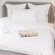 Parure de lit Monaco en satin de coton 220 fils/cm² - 550TC - liseré blanc