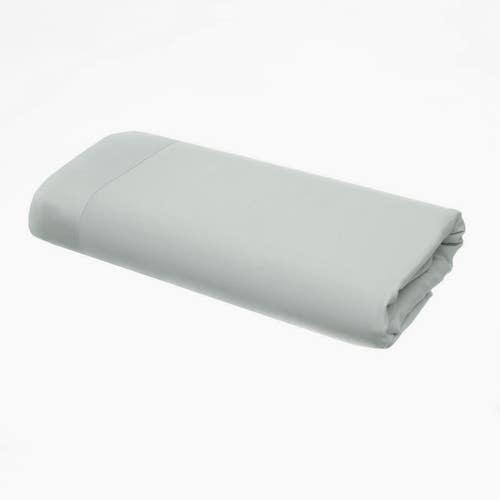 Linge de Lit en satin de coton Pelle d'Uovo 120 fils/cm² - 300TC Satin de Coton - Gris Platine - Drap Plat