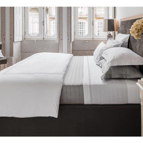 Parure de lit Plaza en satin de coton 160 fils/cm² - 400TC  -Housse de Couette