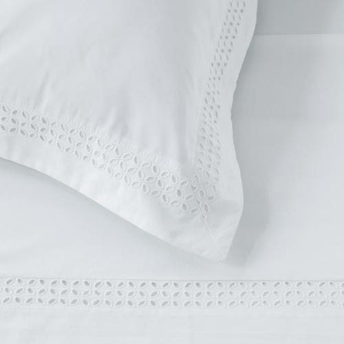 Parure de lit Plaza en satin de coton 160 fils/cm² - 400TC  -Drap Plat